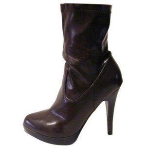 Wild Diva Booties Brown Leather Boots Sz 6